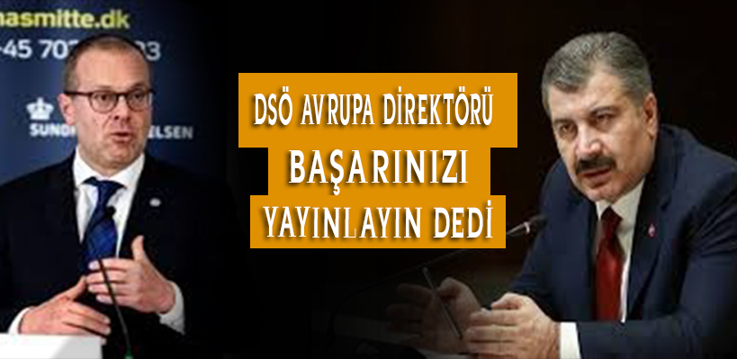 DSÖ Avrupa Direktörü Başarınızı Yayınlayın Dedi.