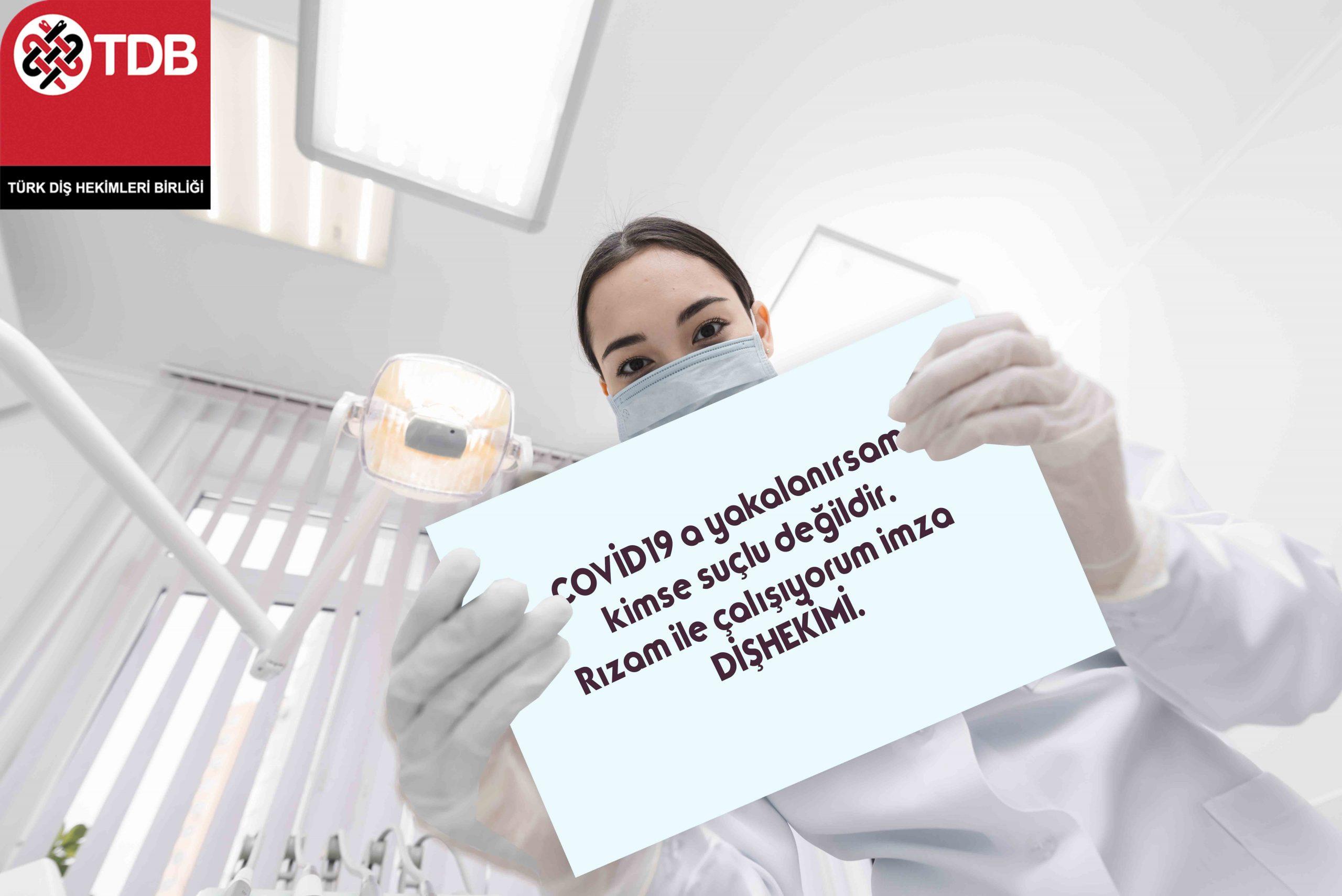 """Dişhekimine  """" Covid Riskini Bilerek Çalışıyorum"""" İmzalatılmasına Tepki Geldi"""